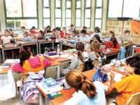 תלמידים בכיתת לימוד./ צילום: איל יצהר