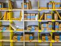 חבילות של אמזון./צילום:  Shutterstock  א.ס.א.פ קריאייטיב