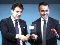 """רה""""מ איטליה קונטה / ולואיג'י די מאיו עם הכרטיס הצהוב"""