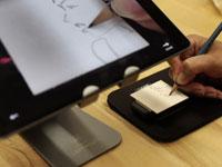 הפיתוח של קיופיקסל מאפשר להעתיק ציור מהמסך אל ריבוע קנבס / צילום: יחצ