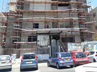בנין ברחוב יהודה הנשיא 7 הפרויקט שנעצר ברמת גן/ צילום: תמר מצפי