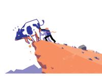 לזרוק את הפרה מן ההר / איור: עומר הופמן