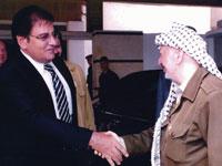 """אברהם בלוך בפגישה עם יו""""ר הרשות הפלשתינאית לשעבר / צילום: באדיבות משרד עו""""ד איתן ארז"""