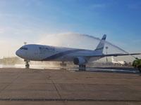 מטוס אל על 767 בנחיתה אחרונה היום בטיסה ממילאנו / צילום: סיון פרג׳