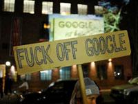 שלט מחאה נגד הקמת קמפוס גוגל בברלין /  צילום: רויטרס, Hannibal Hanschke