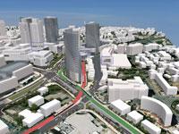 הקו הירוק והאדום בירושלים / הדמיה: צוות תכנית אב לתחבורה ירושלים JTMT