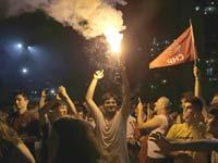 חגיגת הניצחון של מפלגת העם הרפובליקאית באיסטנבול / צילום : רויטרס  HUSEYIN ALDEMIR