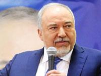 אביגדור ליברמן במסיבת העיתונאים / צילום: שלומי יוסף