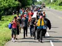 """מהגרים ממרכז אמריקה צועדים לכיוון ארה""""ב/  צילום: רויטרס, Jose Torres"""