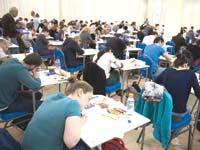 סטודנטים בבחינות הסמכה./  צילום: ליאור מזרחי