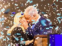 בנימין נתניהו ושרה נתניהו, ניצחון בחירות 2019 / צילום: שלומי יוסף