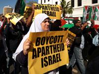 הפגנה אנטי־ישראלית בקייפטאון./צילום: רויטרס, Mike Hutchings