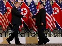 טראמפ וקים בהאנוי. / צילום: רויטרס Leah Millis