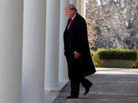 הנשיא טראמפ יוצא לדבר לתקשורת על הפסקת ההשבתה/ צילום: רויטרס Jim Young