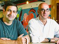 דן שראל (מימין) וגיא רינת, ממייסדי דמיסטו / צילום: איל יצהר