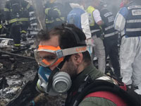 """פיצוץ במפעל זיקוקים במושב פורת בשרון / צילום: זק""""א"""