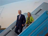 ג'ו ביידן ורעייתו בביקורו הרשמי בישראל ב-2016 / צילום: Heidi Levine, Associated Press