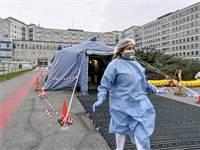 אוהל לטיפול בנדבקי קורונה במחוז לומברדיה באיטליה / צילום: Claudio Furlan/Lapresse via AP, AP