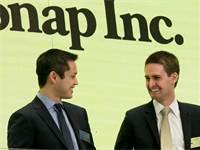 מייסדי סנאפצ'ט, בובי מרפי ואוון שפיגל / צילום: AP Photo, AP