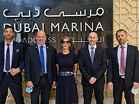 """קבוצת אבנון בביקורה בדובאי. """"בעולמות שלנו, הביטחון, יש להם תקציב אדיר"""" / צילום: יח""""צ"""