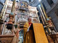 חנוכת בזיליקת הקבר הקדוש בכנסיית הקבר הקדוש בירושלים, 15 ביולי / צילום: נאדים עספור