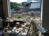 בתים הרוסים באזור הגבול שבין ארמניה ואזרבייג'ן לאחר ההפצצות של צבא אזרבייג'ן לעבר אזורי מגורים / צילום: Associated Press