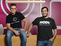 דניאל לאון (משמאל), מייסד שותף בחברת צלזיוס, ורוני כהן פבון, מנהל אסטרטגיה בחברה  / צילום: איל יצהר, גלובס