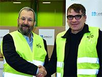 אהוד ברק יו״ר קנדוק, ומייקל אורבך מייסד שותף ודירקטור בטילריי / צילום: איליאן מרשק