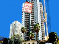 """בניין במרכז פ""""ת בו מוצעות יח""""ד מוזלות לאחר ויתור זכאי מחיר למשתכן /  צילום: איל יצהר, עיבוד: טלי בוגדנובסקי"""