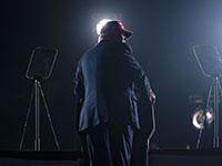 הנשיא טראמפ בעצרת בפלורידה ביום ראשון לקראת חצות / צילום: Evan Vucci, Associated Press