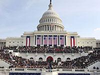 """גבעת הקפיטול בה מושבע נשיא ארה""""ב / צילום: Ron Edmonds, Associated Press"""