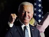 ג'ו ביידן מדבר אל תומכיו בדלוור, אמש / צילום: Paul Sancya, Associated Press