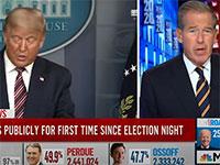 אולפן MSNBC חותך את שידור הנאום של טראמפ / צילום: צילום מסך