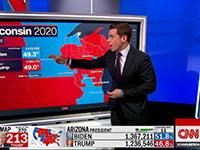 אולפן CNN עוקב אחרי ההצבעות / צילום: צילום מסך