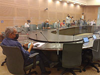 ראש עיריית אילת בדיון בועדת החוקה / צילום: גלובס