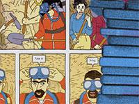 """דף מתוך הרומן הגרפי """"מנהרות"""" / צילום: צילום מסך"""