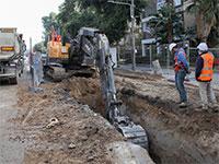 עבודות על הקו הסגול, היום בתל אביב. רוב התהליך מתעכב / צילום: כדיה לוי