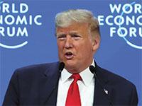 דונלד טראמפ נואם בפורום הכלכלי העולמי בדאבוס / צילום: Denis Balibouse, רויטרס