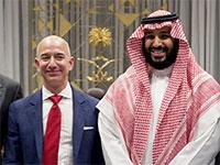 הנסיך הסעודי מוחמד בן סילמאן וג'ף בזוס / צילום: shutterstock, שאטרסטוק