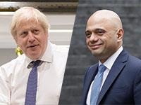 שר האוצר הבריטי, סג׳יד ג׳וויד מול ראש ממשלת בריטניה, בוריס ג'ונסון / צילומים: AP, רויטרס
