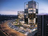 """מרכז מסחרי של """"ביג"""" בכרמי גת / הדמיה: משרד אדריכלים ברעלי לויצקי כסיף"""