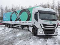 """משאית חשמלית על מסלול הניסויים של אלקטריאון בשבדיה / צילום: יח""""צ"""