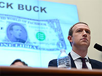 מארק צוקרברג מציג בקונגרס האמריקאי את פרויקט ליברה של פייסבוק  / צילום: Erin Scott, רויטרס