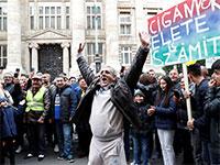 """משפחות צוענים מוחים על סירובה של ממשלת הונגריה לפצות צוענים, ילדי """"רומה"""", שהופרדו בצורה לא חוקית בבית ספר במזרח המדינה / צילום: Bernadett Szabo, רויטרס"""
