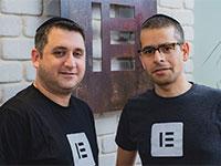 """אריאל קליקשטיין ויוני לוקסנברג, מייסדי ELEMENTOR / צילום: יח""""צ"""