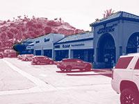 מרכז מסחרי בקליפורניה / צילום:  Shutterstock/ א.ס.א.פ קריאייטיב, עיצוב: טלי בוגדנובסקי