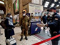 הרשויות באיטליה אוכפות את העוצר / צילום: Claudio Furlan, Associated Press