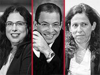 """השופטת רות רונן, עו""""ד ירון קוסטליץ, עו""""ד אילנה ליפסקר-מודעי / צילום: שלומי יוסף, רובי קסטרו"""