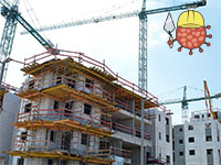 אתר בניה בצל הקורונה  / צילום: איל יצהר, גלובס