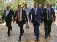 מפלגת הרשימה המשותפת לאחר ביקורה בבית הנשיא / צילום: הרשימה המשותפת